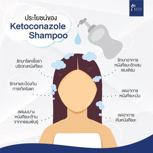 """ประโยชน์ของ """" Ketoconazole Shampoo """""""